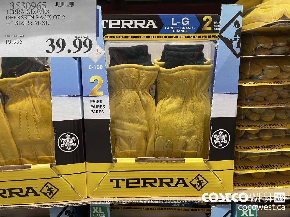 3530965 TERRA GLOVES DEERSKIN PACK OF 2 SIZES: M-XL $39.99