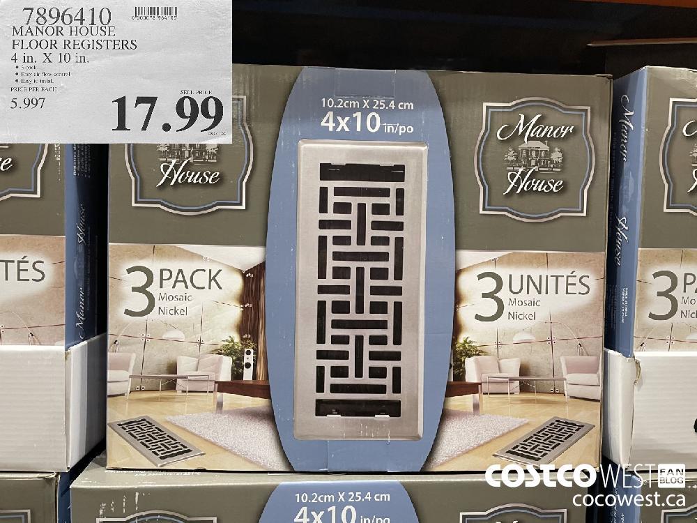 7896410 MANOR HOUSE FLOOR REGISTERS 4 in. X 10 in. $17.99