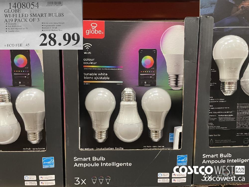 1408054 WI-FI LED SMART BULBS A19 PACK OF 3 $28.99