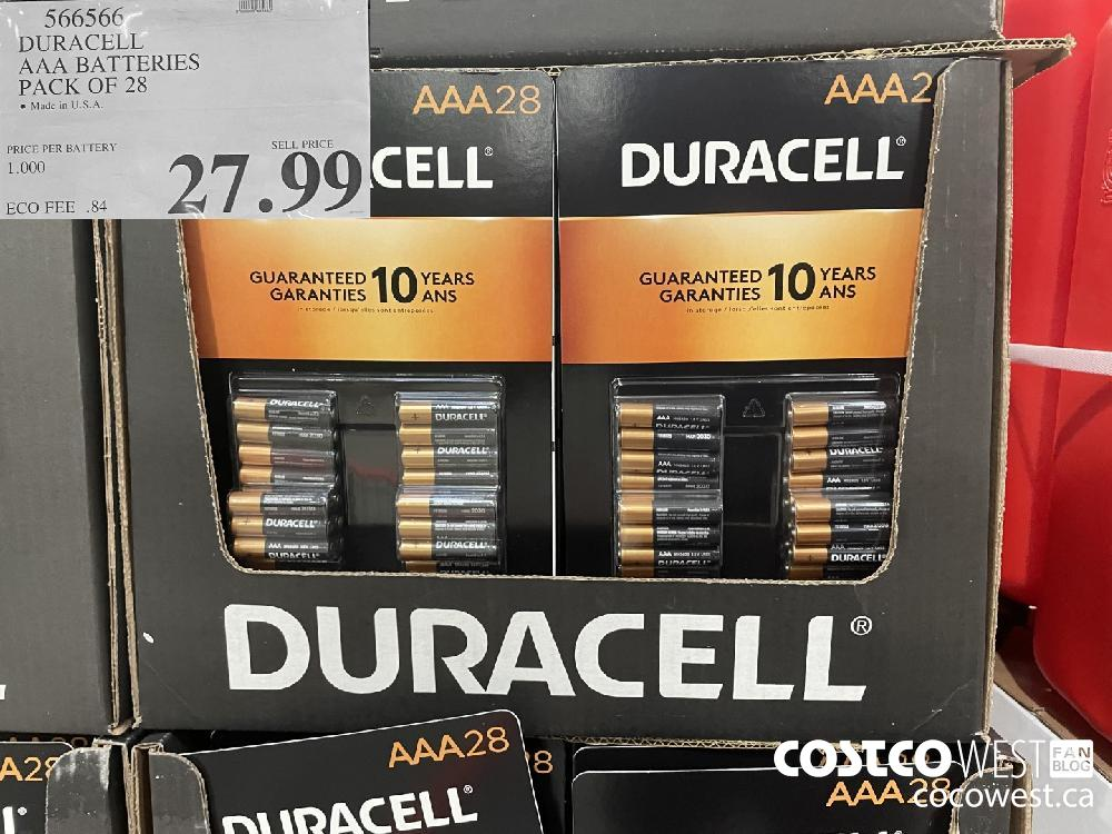 566566 DURACELL AAA BATTERIES PACK OF 28 $27.99