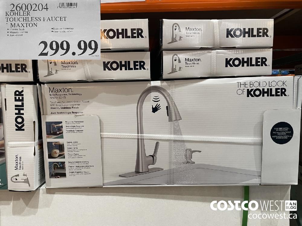 7600204 KOHLER TOUCHLESS FAUCET MAXTON $299.99