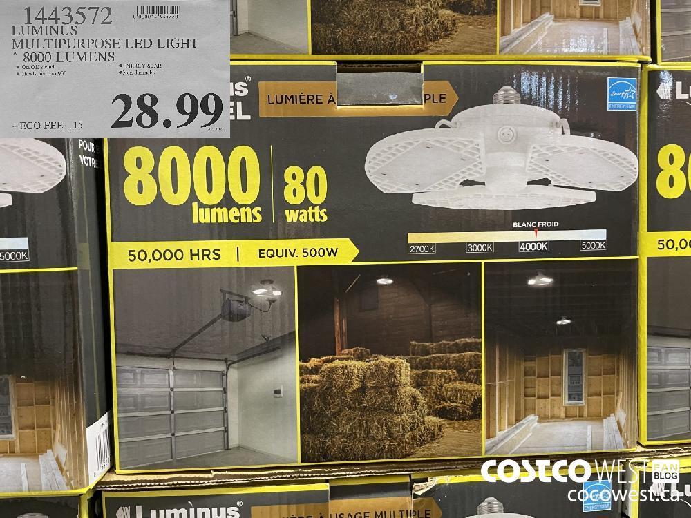1443572 LUMINUS MULTIPURPOSE LED LIGHT 8000 LUMENS $28.99