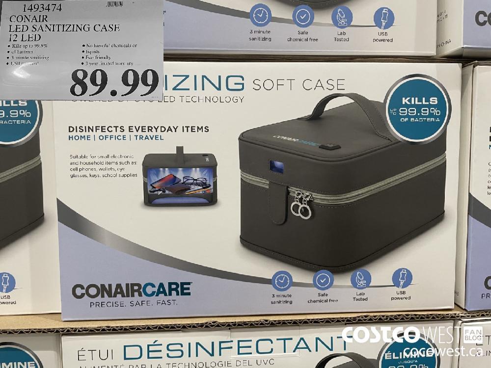 1493474 CONAIR LED SANITIZING CASE 12 LED $89.99