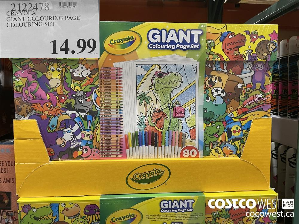 2122478 CRAYOLA GIANT COLOURING PAGE COLOURING SET $14.99