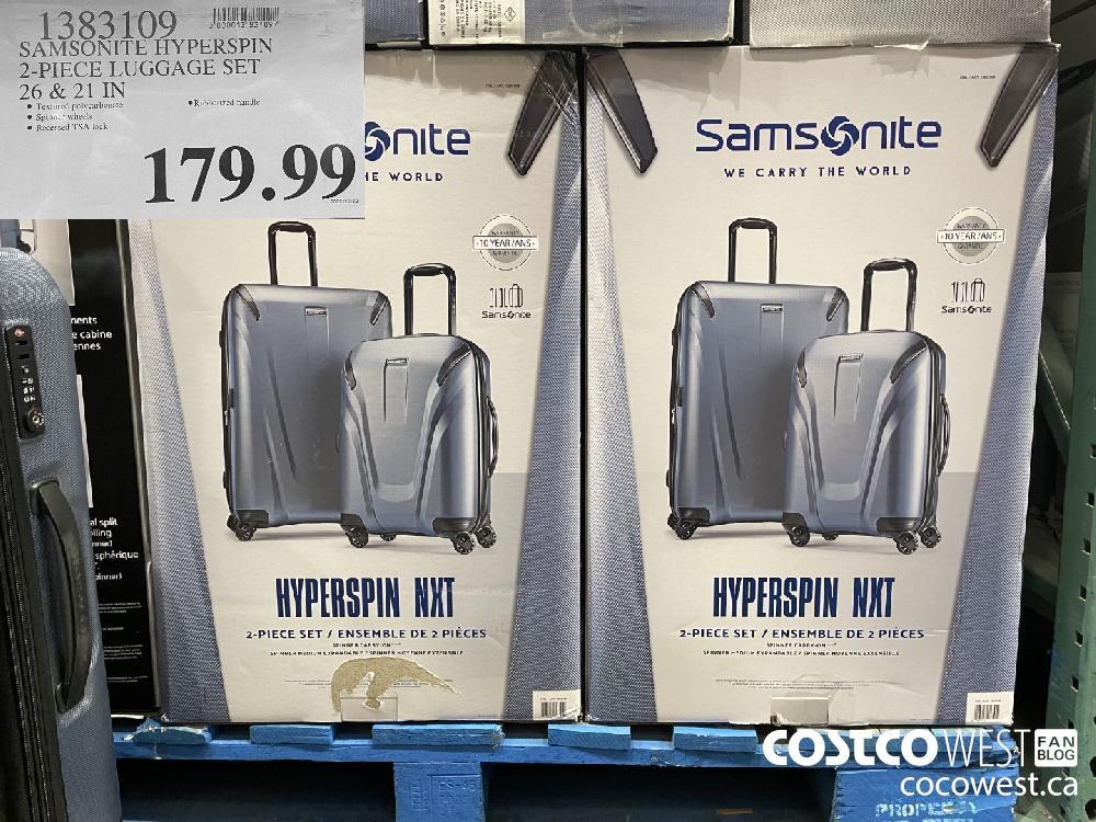 1383109 SAMSONITE HYPERSPIN 2-PIECE LUGGAGE SET 26