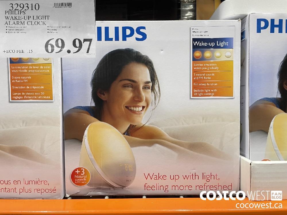 329310 PHILIPS WAKE-UP LIGHT ALARM CLOCK $69.97
