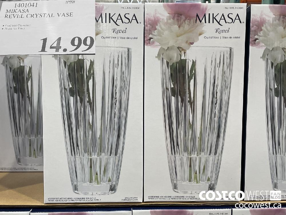 1401041 MIKASA REVEL CRYSTAL VASE $14.99