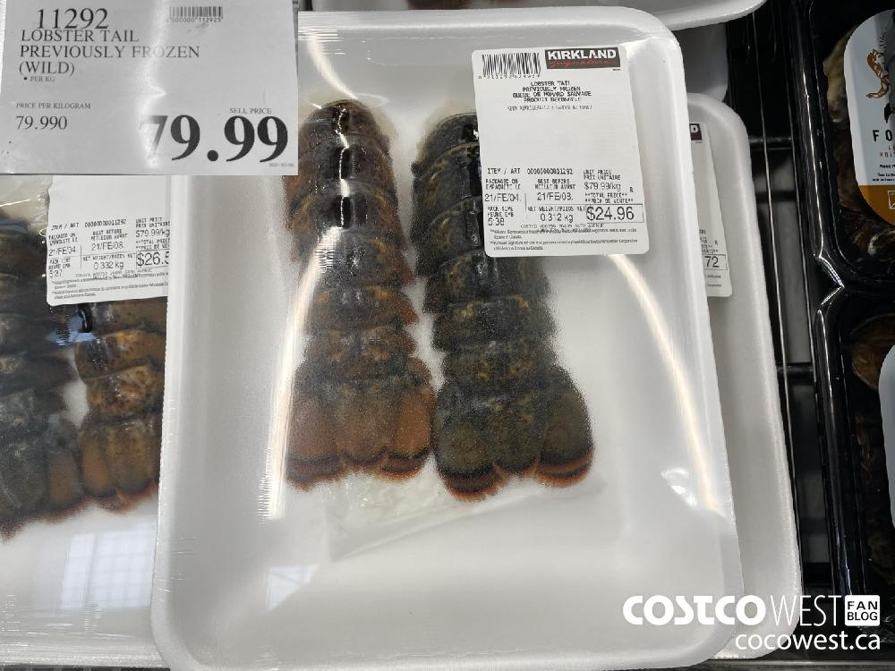 11292 LOBSTER TAIL PREVIOUSLY FROZEN (WILD) $79.99