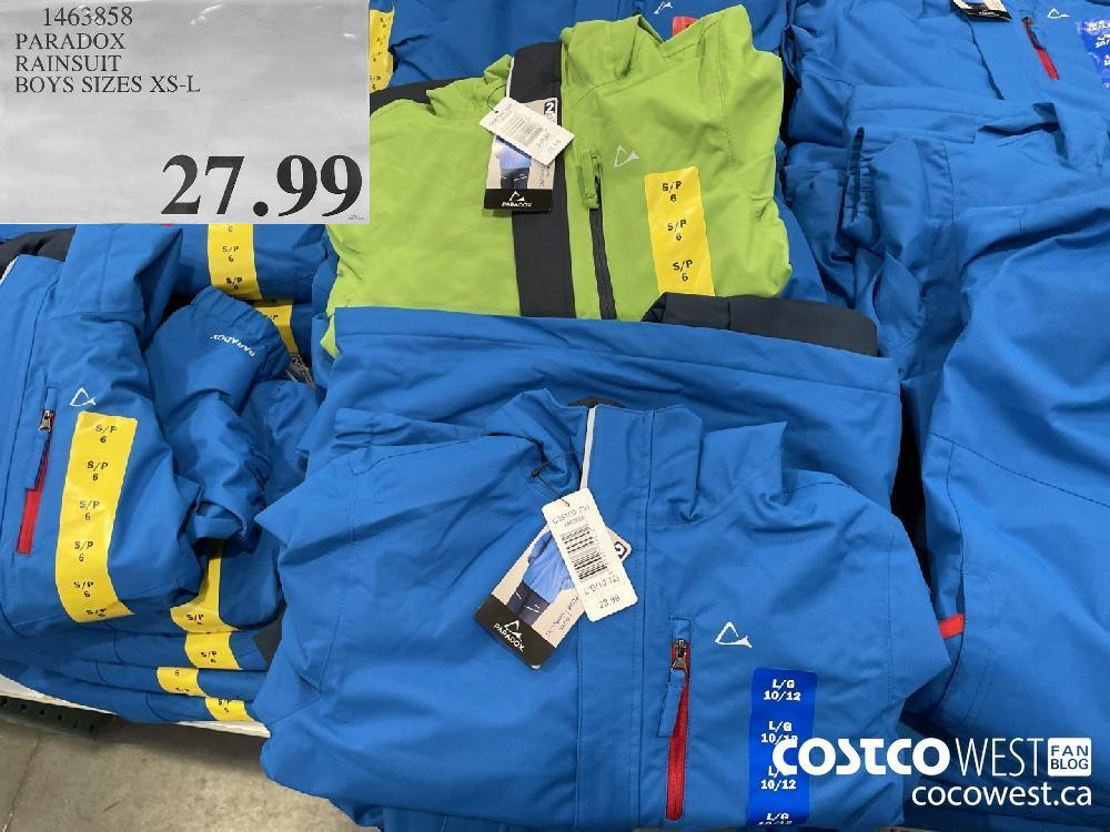 1463858 PARADOX RAINSUIT BOYS SIZES XS-L $21.99