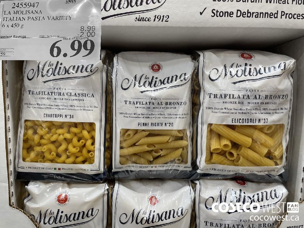 2455947 LA MOLISANA ITALIAN PASTA VARIETY 6 x 450 g EXPIRY DATE: 2021-02-14 $6.99