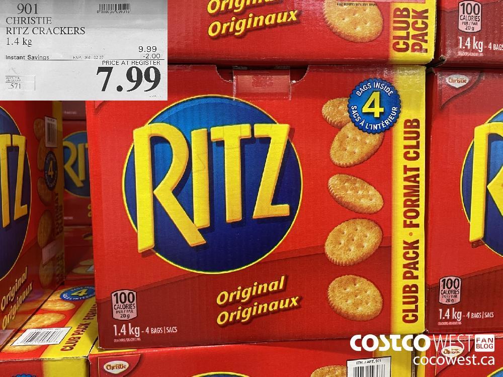 901 CHRISTIE RITZ CRACKERS 1.4 kg EXPIRY DATE: 2021-02-07 $7.99
