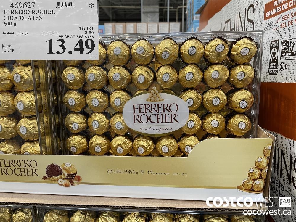 469627 FERRERO ROCHER CHOCOLATES 600 g EXPIRY DATE: 2021-02-14 $13.49