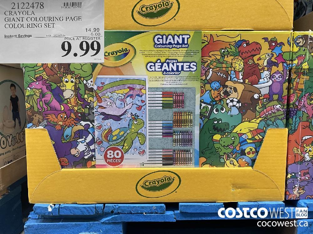 2122478 CRAYOLA GIANT COLOURING PAGE COLOURING SET EXPIRY DATE: 2021-02-14 $9.99