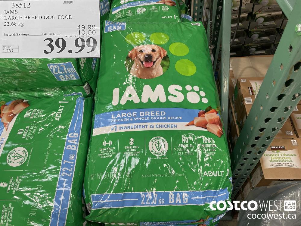 38512 IAMS LARGE BREED DOG FOOD 22.68 kg EXPIRY DATE: 2021-02-28 $39.99