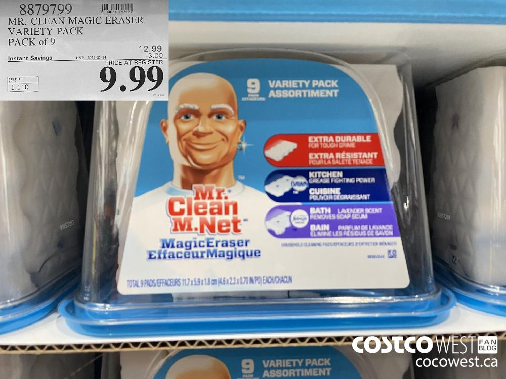 8879799 MR. CLEAN MAGIC ERASER VARIETY PACK PACK of 9 EXPIRY DATE: 2021-02-14 $9.99