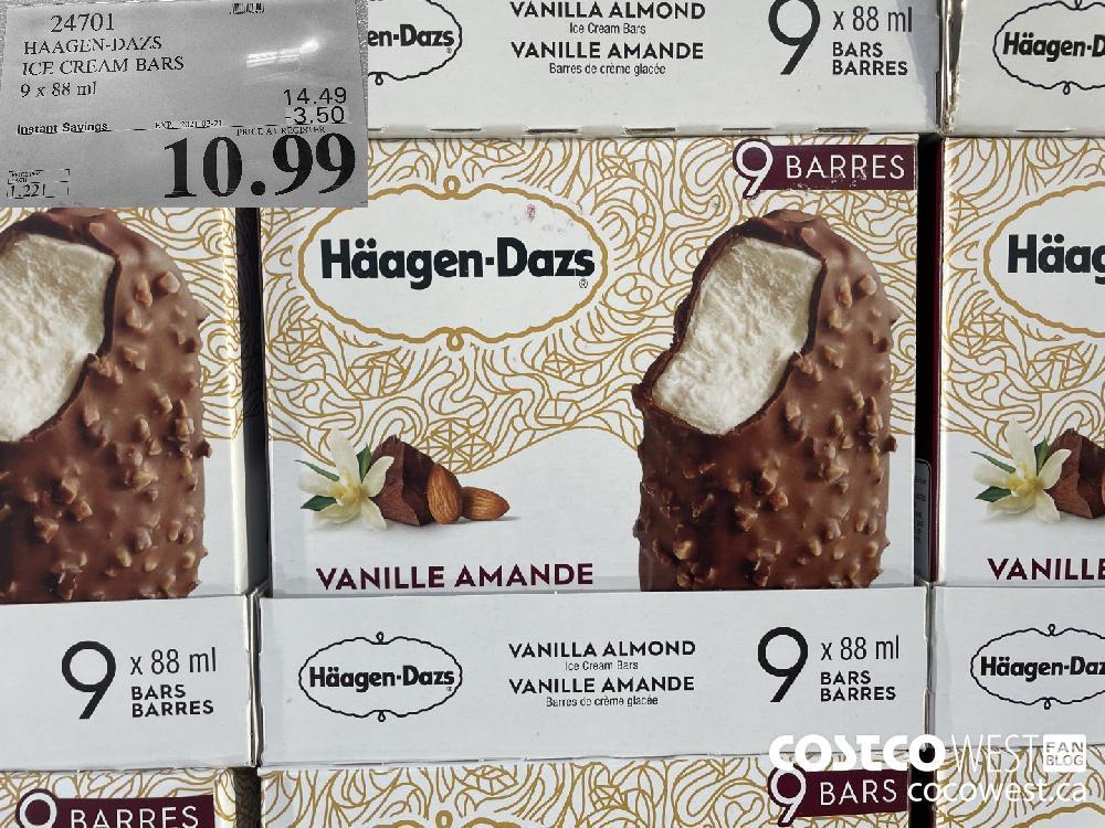 247016 HAAGEN-DAZS ICE CREAM BARS 9 x 88 ml EXPIRY DATE: 2021-02-21 $10.99