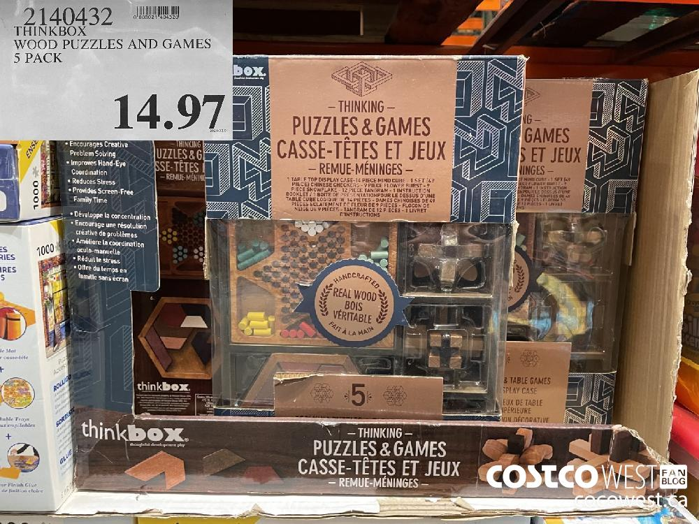 29140432 THINKBOX WOOD PUZZLES AND GAMES 5 PACK $14.97