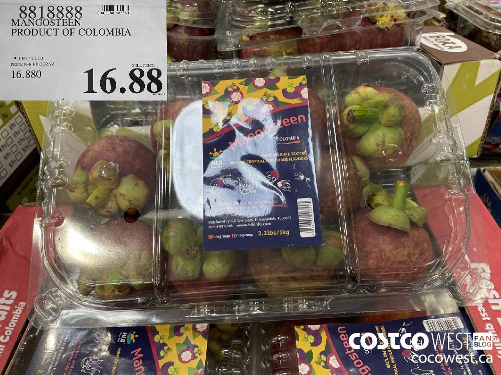 8218888 MANGOSTEEN PRODUCT OF COLOMBIA $16.88