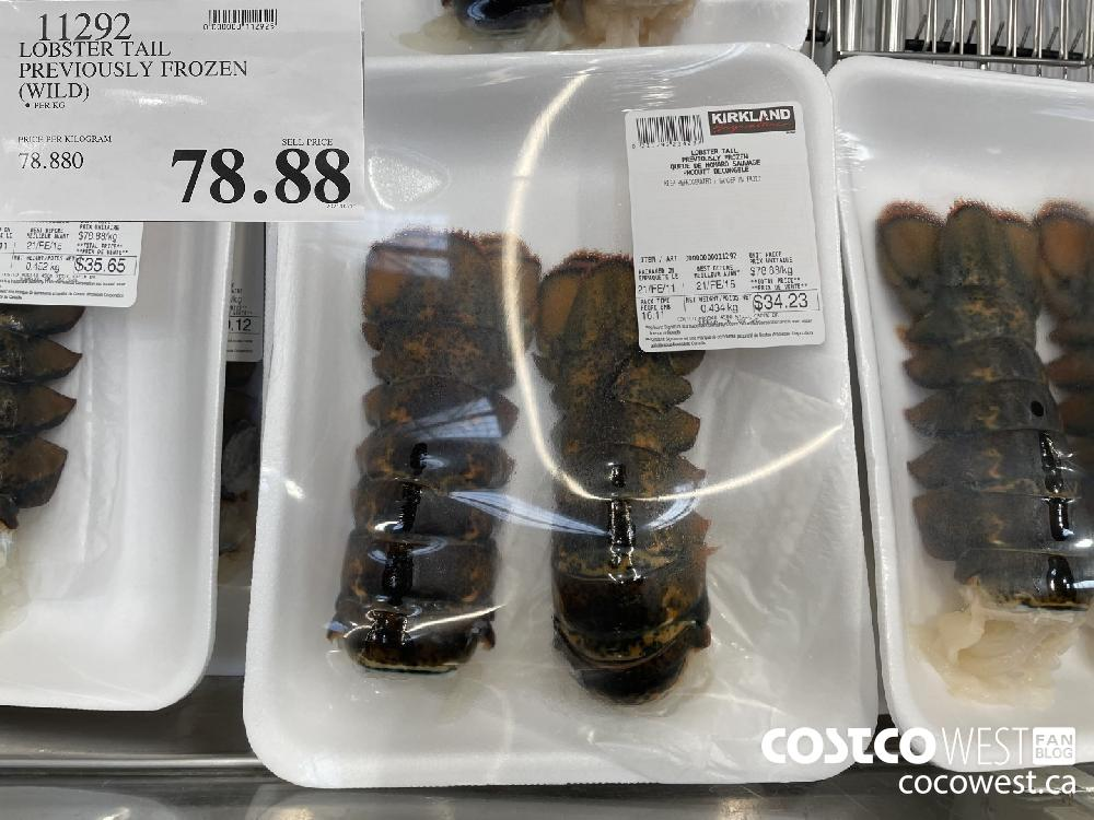 11292 LOBSTER TAIL PREVIOUSLY FROZEN (WILD) $78.88
