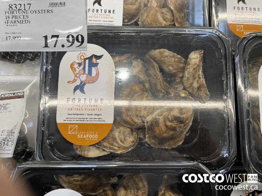 83217 FORTUNE OYSTERS 18 PIECES (FARMED) $17.99