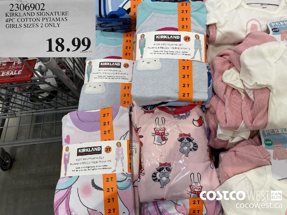 2306902 KIRKLAND SIGNATURE APC COTTON PYJAMAS GIRLS SIZES 2 ONLY $18.99