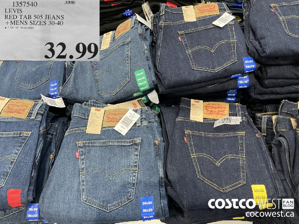 1357540 LEVIS RED TAB 505 JEANS MENS SIZES 30-40 $32.99