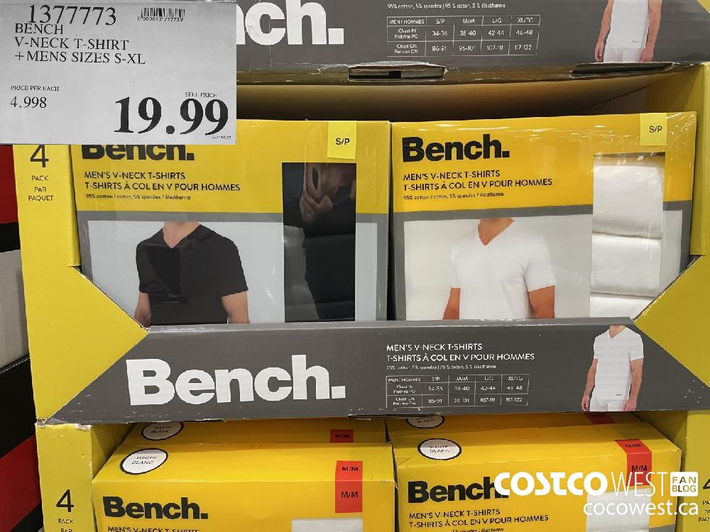 1377773 BENCH V-NECK T-SHIRT MENS SIZES S-XL $19.99