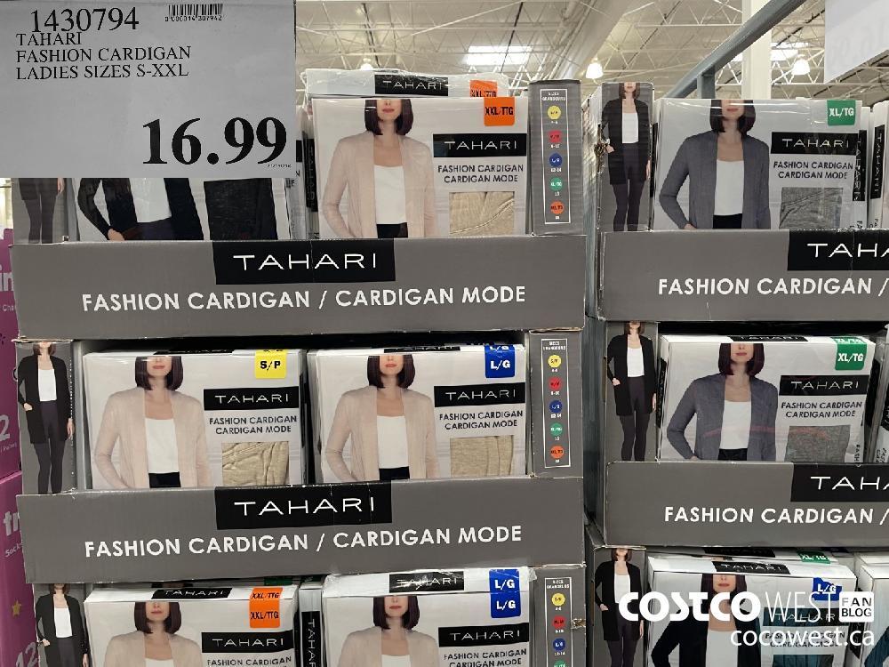 1430794 TAHARI FASHION CARDIGAN LADIES SIZES S-XXL $16.99