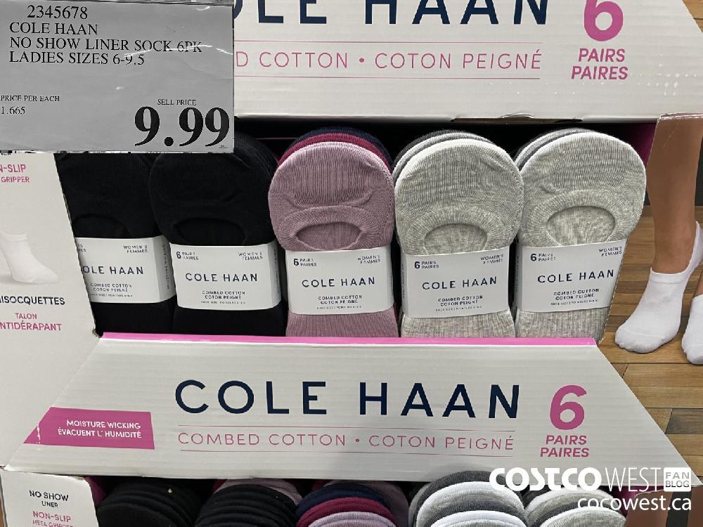 2345678 COLE HAAN NO SHOW LINER SOCK 6PK LADIES SIZES 6-9.5 $9.99