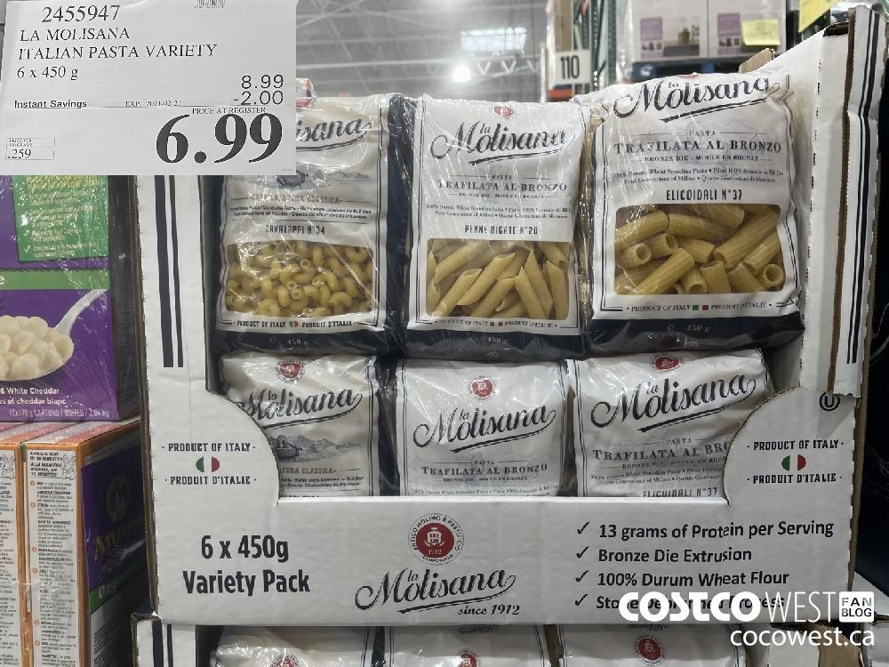 9455947 LA MOLISANA ITALIAN PASTA VARIETY 6 x 450 g EXPIRY DATE:_2021-02-21 $6.99