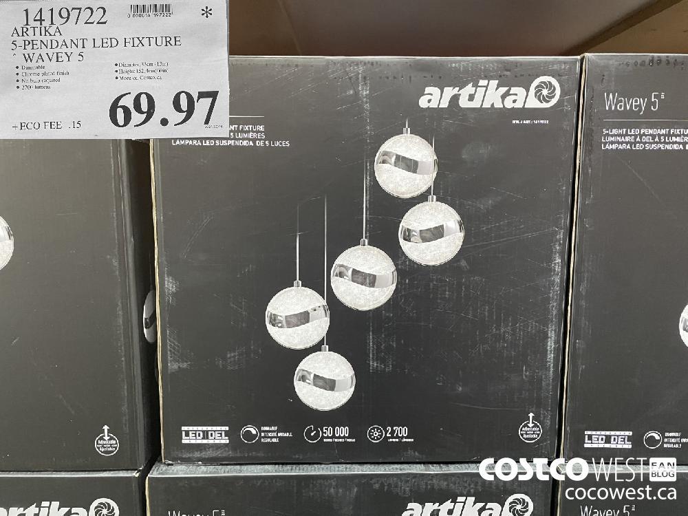 1419722 ARTIKA 5-PENDANT LED FIXTURE *WAVEY 5 $69.97