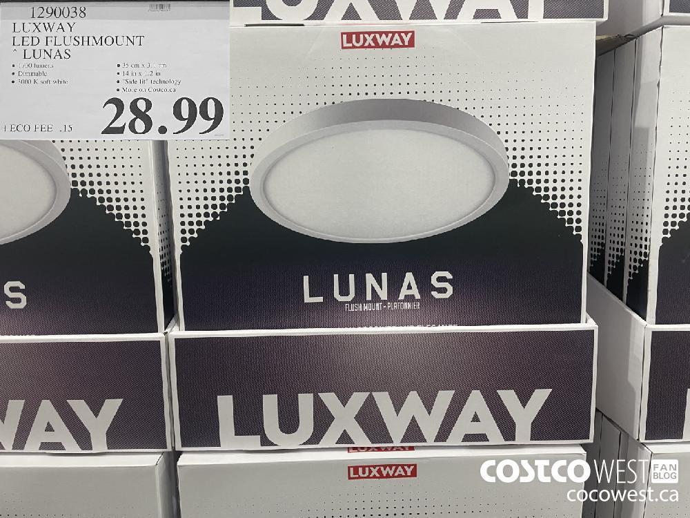 1290038 LUXWAY LED FLUSHMOUNT LUNAS $28.99