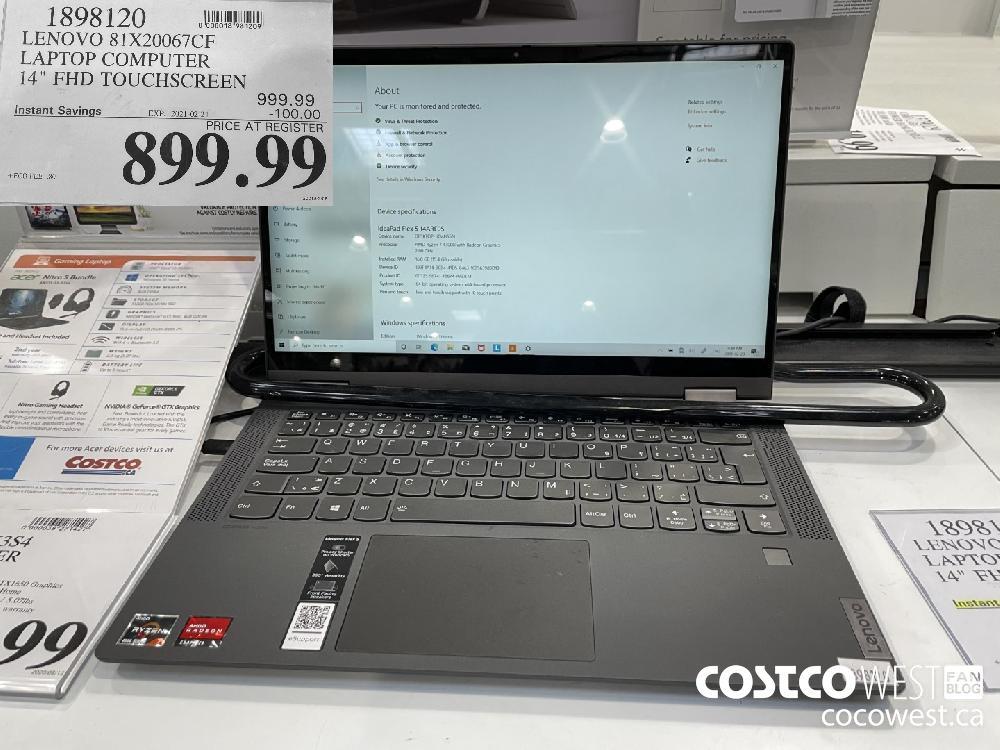 """1898120 LENOVO 81X20067CF LAPTOP COMPUTER 14"""" FHD TOUCHSCREEN EXPIRY DATE: 2021-02-21 $899.99"""