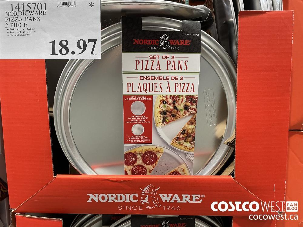 1415701 NORDICWARE PIZZA PANS 2 PIECE $18.97