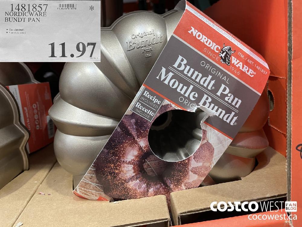 1481857 NORDICWARE BUNDT PAN $11.97