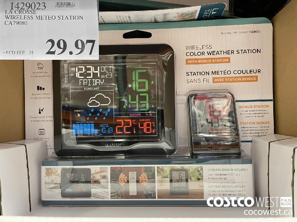 1429023 LA CROSSE WIRELESS METEO STATION CA79080 $29.97