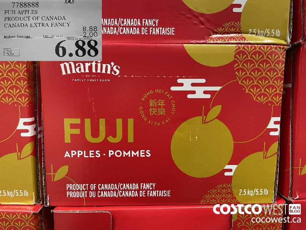 7788888 FUJI APPLES PRODUCT OF CANADA CANADA EXTRA FANCY EXPIRY DATE: 2021-02-23 $6.88
