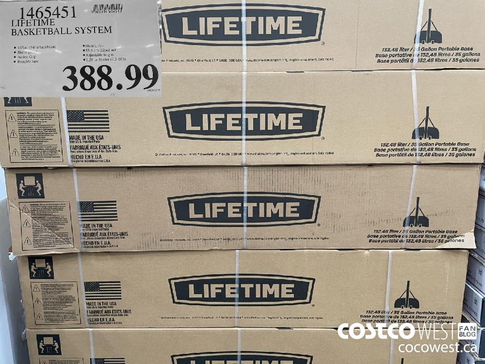 1465451 LIFETIME BASKETBALL SYSTEM $388.99