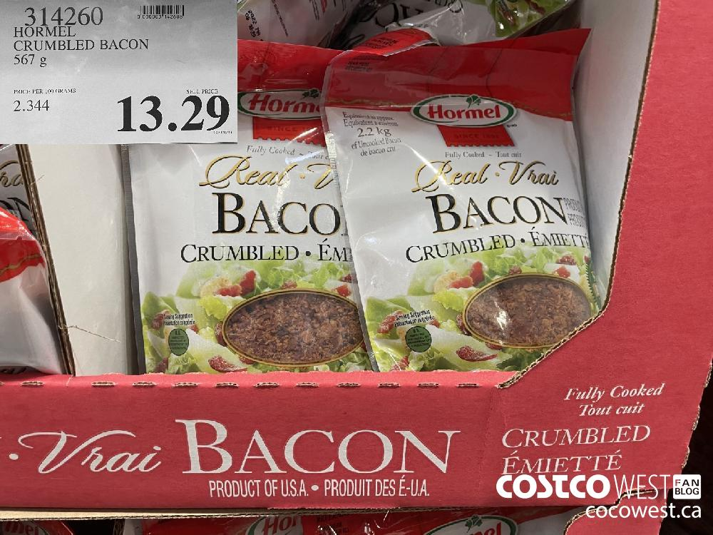 314260 HORMEL CRUMBLED BACON 567 g $13.29