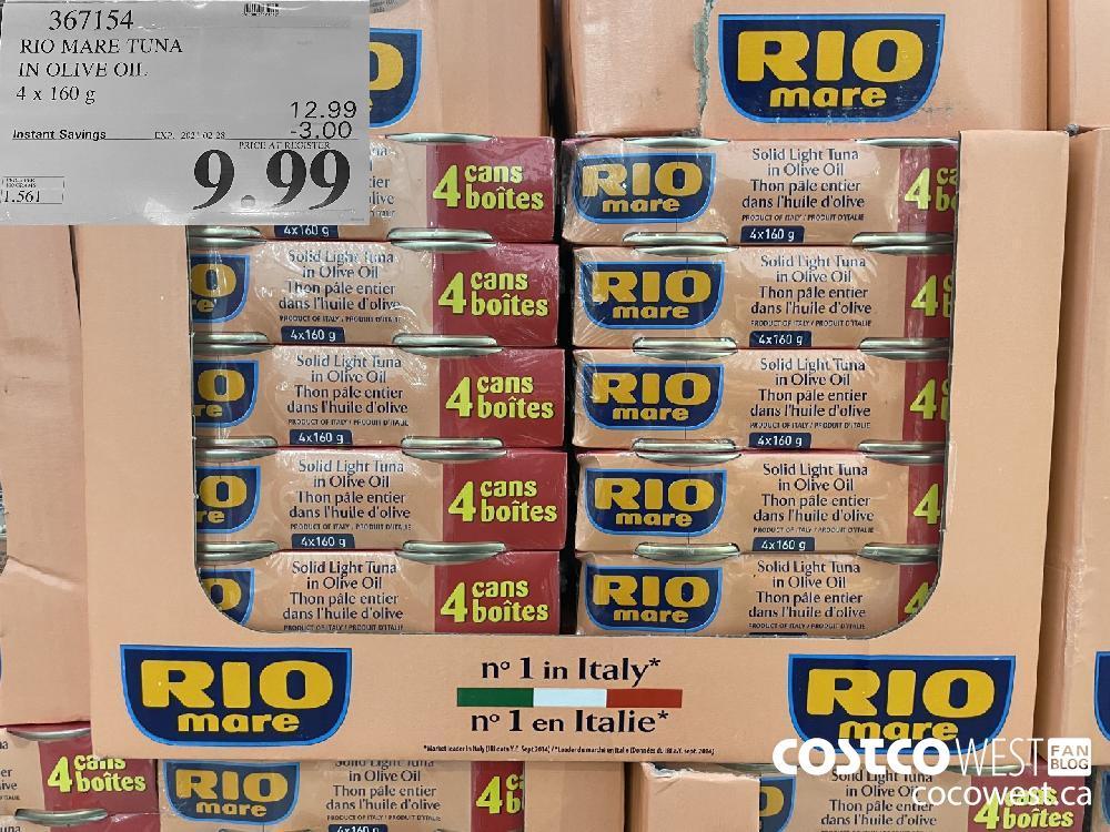 367154 RIO MARE TUNA IN OLIVE OIL 4x 160g EXPIRY DATE: 2021-02-28 $9.99