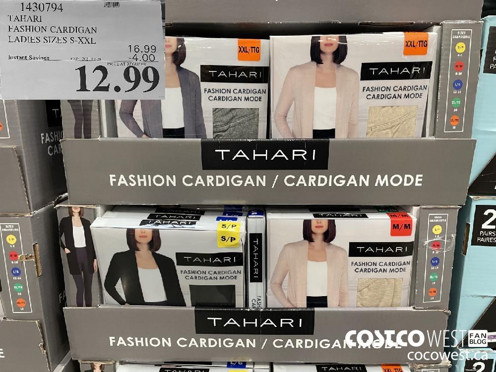 1430794 TAHARI FASHION CARDIGAN LADIES SIZES S-XXL EXPIRY DATE: 2021-02-28 $12.99