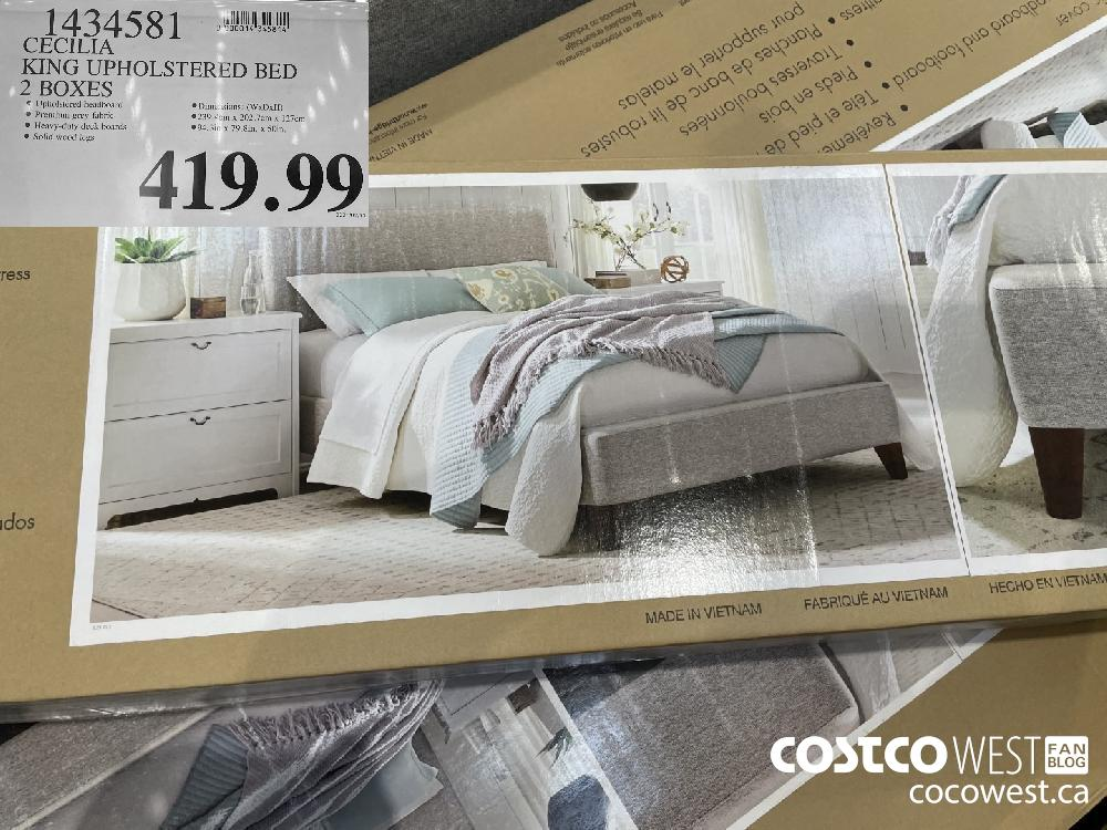 1434581 CECILIA KING UPHOLSTERED BED 2 BOXES $419.99