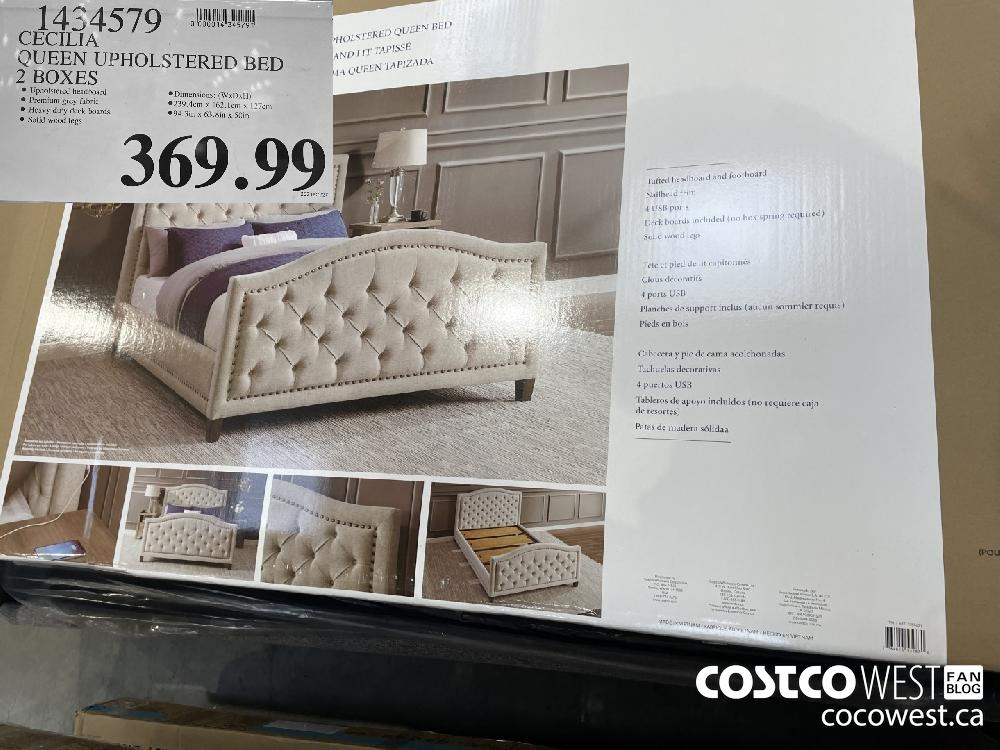 1454579 CECILIA QUEEN UPHOLSTERED BED 2 BOXES $369.99