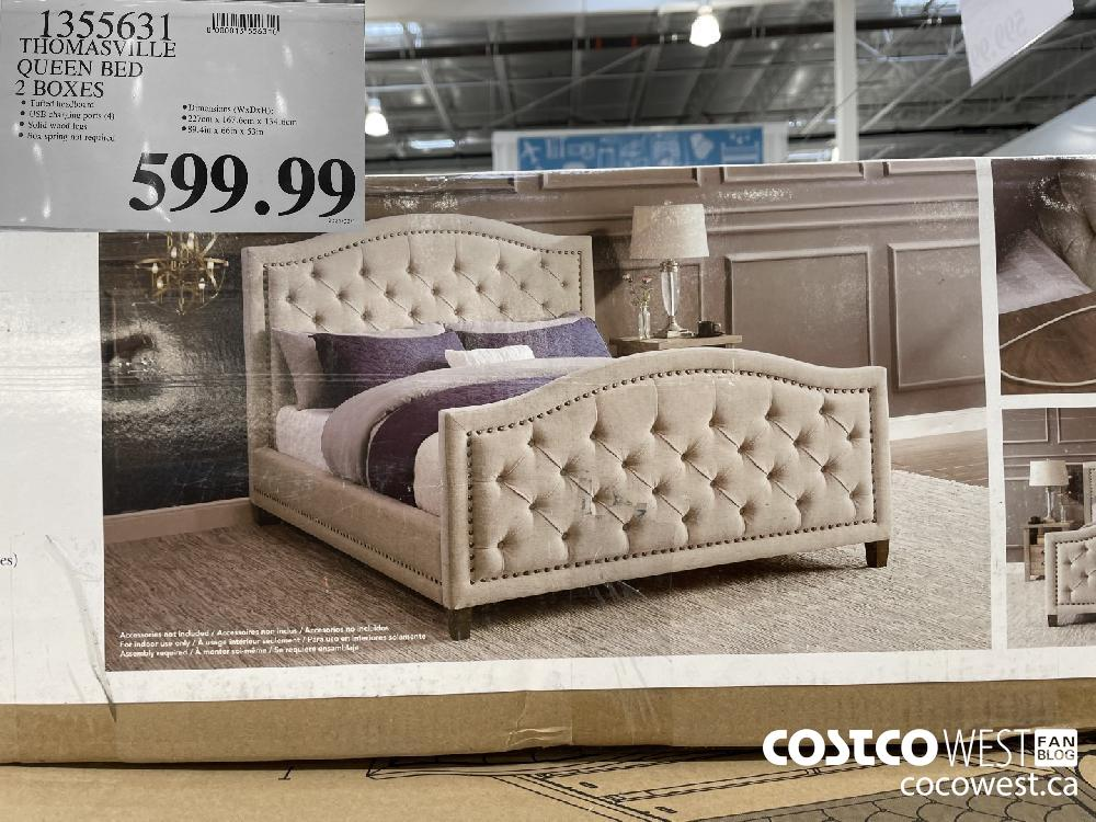 1355631 THOMASVILLE QUEEN BED 2 BOXES $99.99