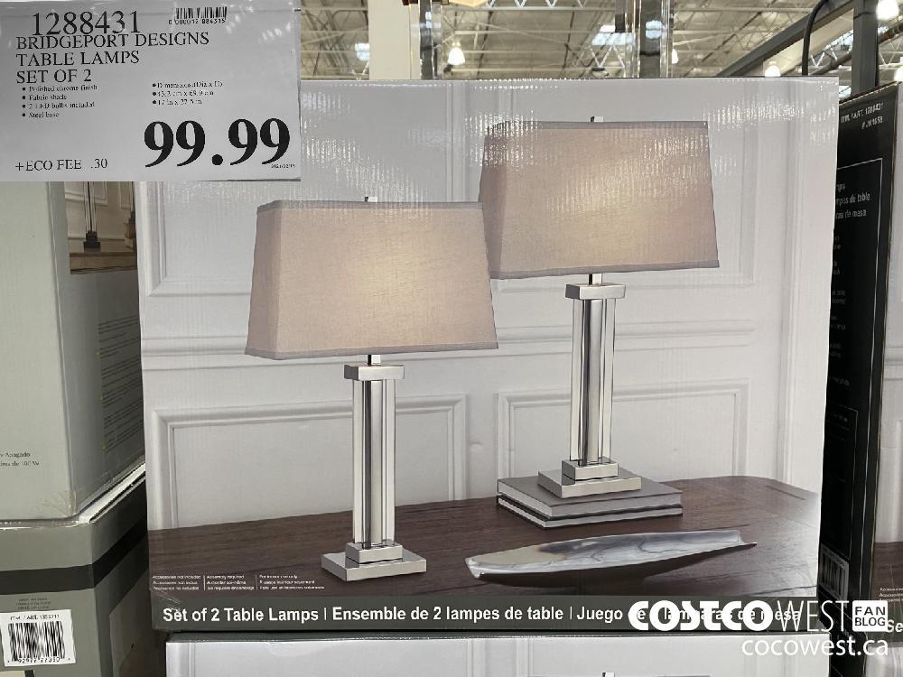 1288431 BRIDGEPORT DESIGNS TABLE LAMPS SET OF 2 $99.99