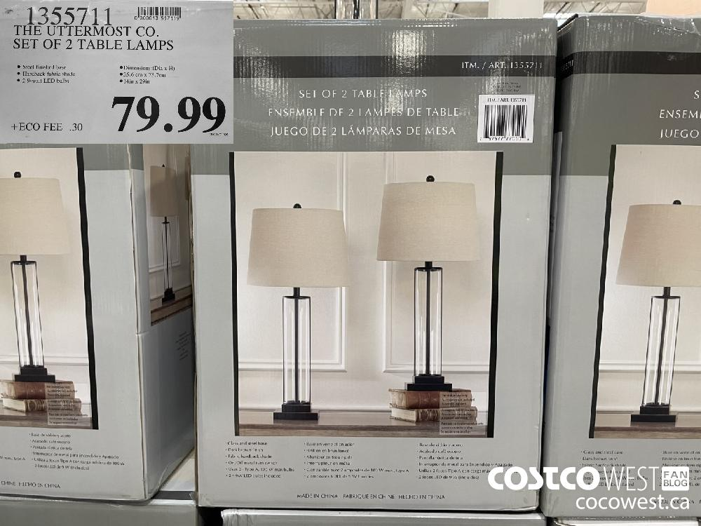 1355711 THE UTTERMOST CO. SET OF 2 TABLE LAMPS $79.99
