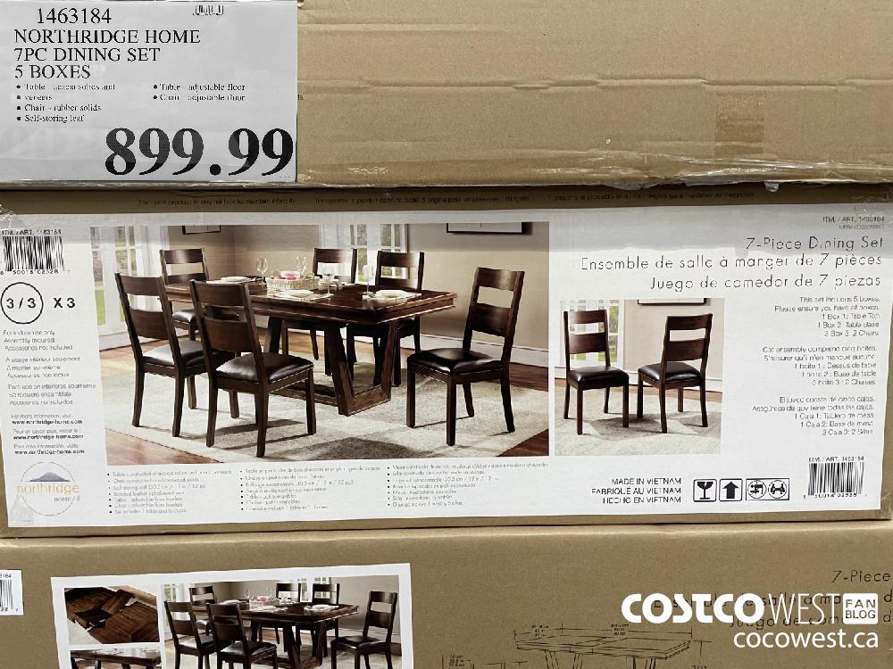 1463184 NORTHRIDGE HOME 7PC DINING SET 5 BOXES $899.99