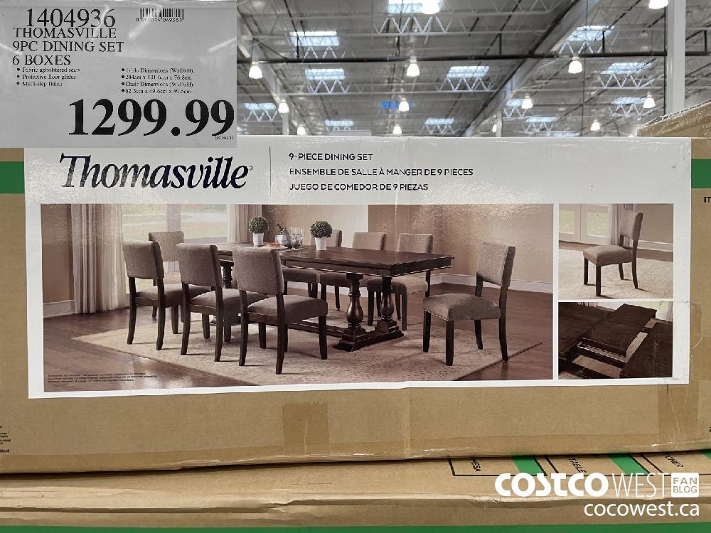 1404936 THOMASVILLE 9PC DINING SET 6 BOXES $1299.99