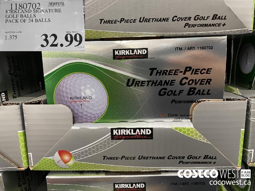 1180702 KIRKLAND SIGNATURE GOLF BALLS PACK OF 24 BALLS $32.99