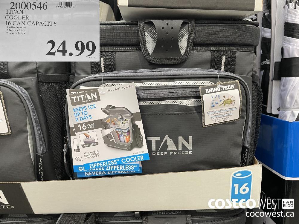 2000546 TITAN COOLER 16 CAN CAPACITY $24.99